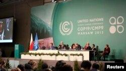 Pamje nga konferenca për ndryshime klimatike në Varshavë