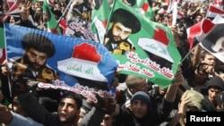 Акция протеста сторонников шиитского религиозного деятеля Муктады аль-Садра. Басра, 19 марта 2012 года.