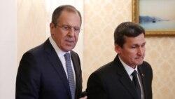 Türkmen baş diplomaty (prezidentiň ogly bilen) rus kärdeşi bilen gepleşik geçirer