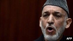 Ауғанстан президенті Хамид Карзай. Кабул, 6 наурыз 2013 жыл.