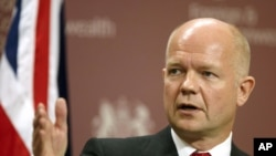 U.K. Foreign Secretary William Hague