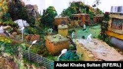جانب من معروضات تصاميم القرى الكردية في دهوك