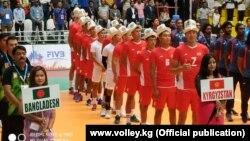 Сборная Кыргызстана по волейболу в Катманду. 19 августа 2019 года.