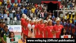 Кыргызстандын волейбол боюнча улуттук курама командасы. Катманду, Непал. 19-август, 2019-жыл.