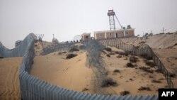 مقطع من الحدود المصري الاسرائيلية في سيناء