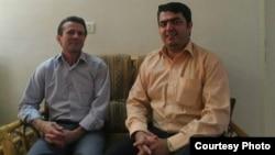 اسماعیل عبدی (سمت راست تصویر) و جعفر عظیمزاده