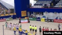 تیم فوتبال ساحلی ایران شش بر یک از اورگوئه شکست خورد.
