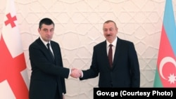 Георгий Гахария и Ильхам Алиев (архивное фото)