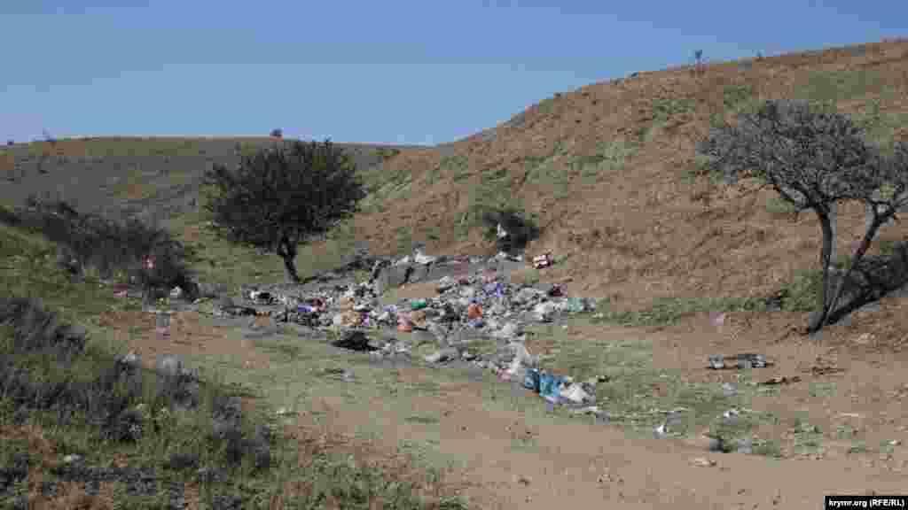 Впрочем, мусор есть только на территории балки
