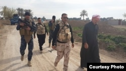 قوات أمن عراقية قرب القلوجة