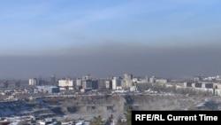 Ыш каптаган Бишкек.