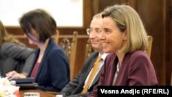Голова європейської дипломатії Федеріка Моґеріні та президент Сербії Томіслав Ніколіч, Белград, 3 березня 2017 року