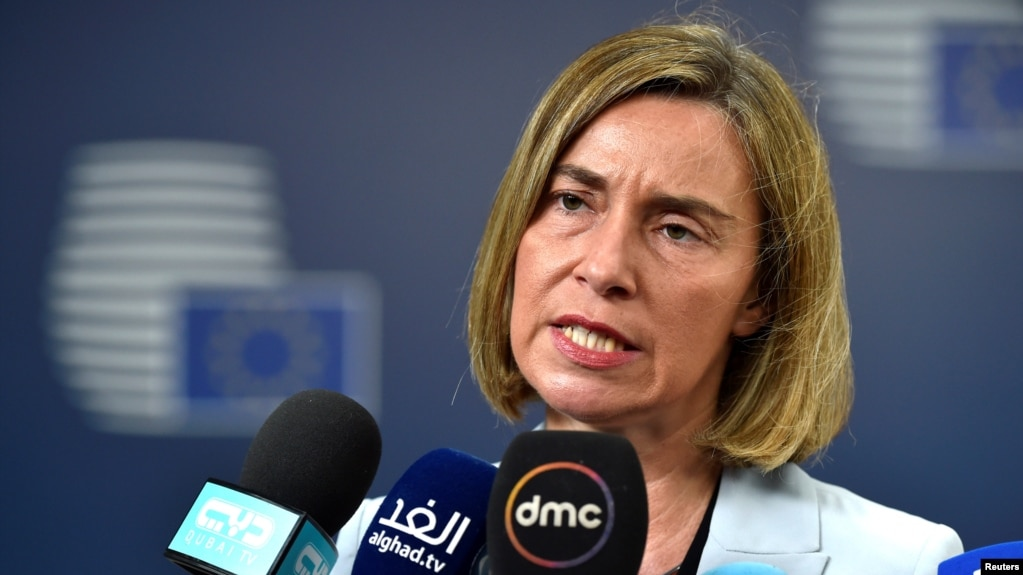 European Union foreign-policy chief Federica Mogherini visited the region in March.