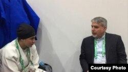 مارال مردانی و رضا صالحی امیری رییس کمیته المپیک