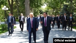 Дидори Раҳмон ва Каримов дар Тошканд