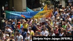 Parada e parë e Krenarisë, e mbajtur sot në Shkup.