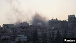 Tym nga ndërtesat në një lagje të Alepos