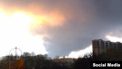 Дым пожара был виден за много километров