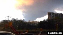 Пожар на складе в Санкт-Петербурге. 17 октября 2015 года.