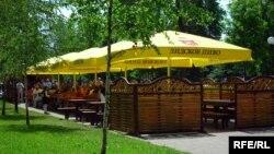 Такія часовыя кропкі для расьпіцьця піва зьявіліся ў парку імя Жылібэра