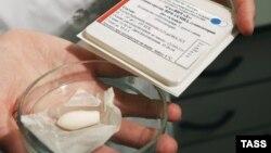 Одно из лекарств от ВИЧ, выпускаемых в России