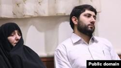 فاطمه امیرانی همسر حمید باکری و احسان باکری فرزند وی