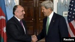Azerbaijan -- U.S. Secretary of State John Kerry meets Azerbaijan's Foreign Minister Elmar Mammadyarov at the State Department, Washington DC, 03Jun2013.