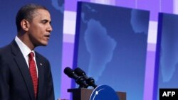 Барак Обама выступает на заключительной пресс-конференции ядерного саммита.
