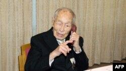 Японец Сакари Момои, бывший самым старым человеком на планете, умер этим летом в возрасте 112 лет (снимок 2013 года)