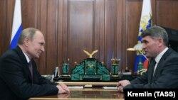 Олег Николаев на встрече с президентом России