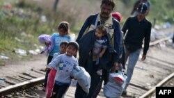 Біженці біля угорсько-сербського кордону. 14 вересня 2015 року