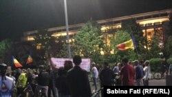 Антикоррупционный протест на центральной площади в Бухаресте. 3 мая 2017 года.