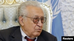 UN-Arab League peace envoy for Syria Lakhdar Brahimi