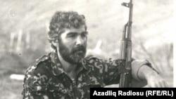 """""""Küdrü qartalları"""" dəstəsinin komandiri Tariel Şirinov"""