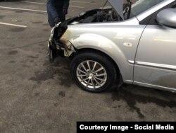 """Автомобиль одного из фигурантов """"черного"""" списка после попытки поджога"""
