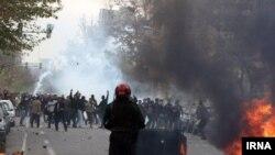 تصویر منتشره از اعتراض های روز ۱۶ آذر توسط خبرگزاری دولتی ایران، ایرنا