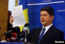 Titus Corlățean anunțîndu-și demisia la 10 noiembrie 2014