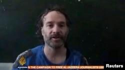 Peter Theo Curtis, într-o înregistrare video courtesy of Al Jazeera, 24 august2014