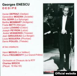 Xavier Depraz (Œdipe) și distribuția din 1955