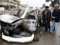 The scene of a Baghdad car-bomb attack on December 18 (epa)