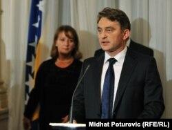 Željko Komšić na prijemu u Predsjedništvu BiH povodom Dana državnosti BiH, 24. novembar 2011.
