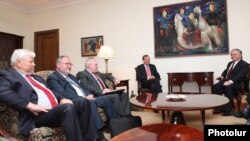 Armenia -- RA Minister of Foreign Affairs Edward Nalbandyan receives the co-chairs of the OSCE Minsk Group, Yerevan, 13Jul2012
