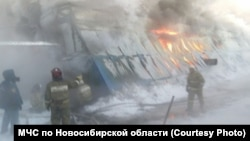 Пожар в Новосибирске