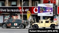 București, unde armata sprijină impunerea restricțiilor sanitare, 26 martie 2020