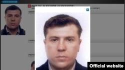 An Interpol file photo of Mukhtar Ablyazov's ex-bodyguard Alexandr Pavlov