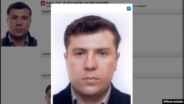 An Interpol website photo of Mukhtar Ablyazov's ex-bodyguard, Aleksandr Pavlov