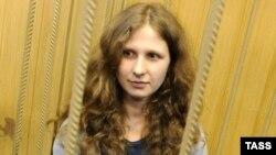 Мария Алёхина на заседании Таганского суда Москвы 19 апреля