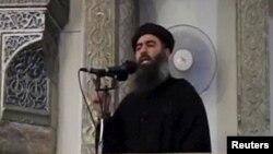 """Предположительный снимок Абу Бакра аль-Багдади, главаря группировки """"Исламское государство""""."""