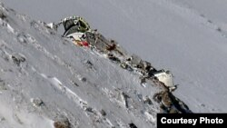 بخشی از لاشه هواپیمای سقوطکرده مسیر تهران-یاسوج