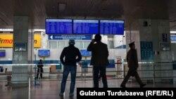 """Бишкек яқинидаги """"Манас"""" халқаро аэропорти (иллюстратив сурат)."""